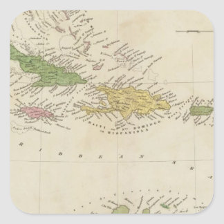 West Indies 18 Square Stickers