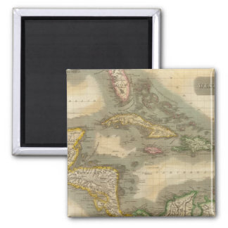 West Indies 19 Square Magnet