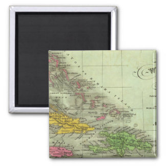 West Indies 21 Square Magnet