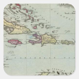 West Indies 21 Square Sticker