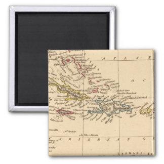 West Indies 22 Square Magnet