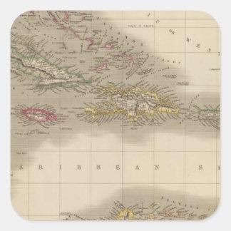 West Indies 22 Square Sticker