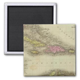 West Indies 23 Square Magnet