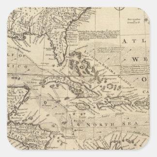 West Indies 2 Square Sticker