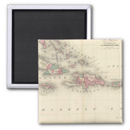 West Indies 3 Fridge Magnets