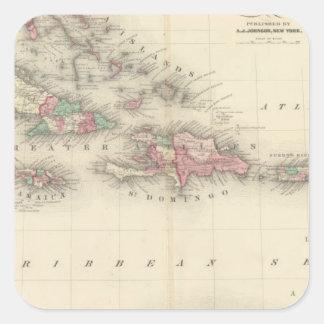 West Indies 3 Square Sticker