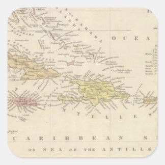 West Indies 4 Square Sticker