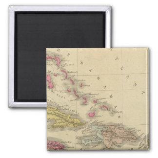 West Indies 5 Square Magnet