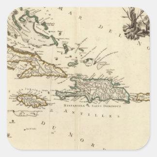 West Indies 5 Square Sticker
