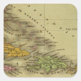 West Indies 6 Square Sticker