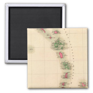 West Indies 75 Square Magnet
