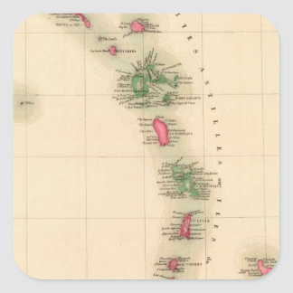West Indies 75 Square Stickers