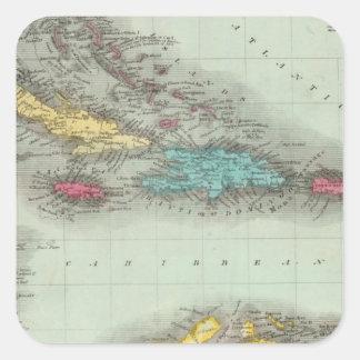 West Indies 8 Square Sticker