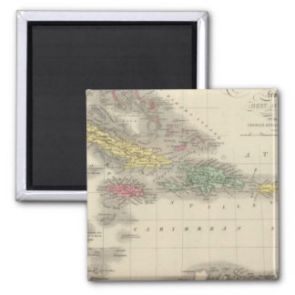 West Indies 9 Square Magnet