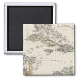 West Indies and Central America Square Magnet