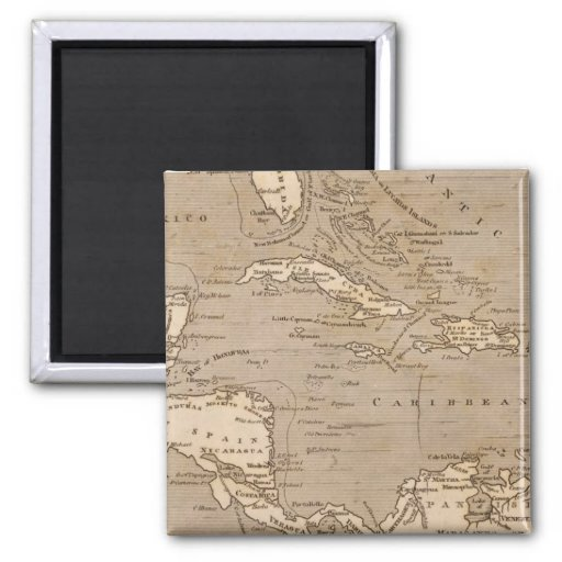 West Indies Map by Arrowsmith Magnet