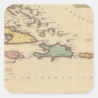 West Indies Square Sticker