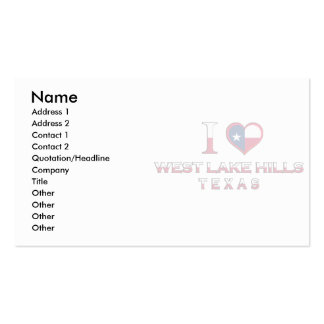West Lake Hills, Texas Business Card Templates