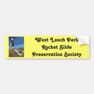 West Leach Park Rocket Slide Preservation Society Bumper Sticker