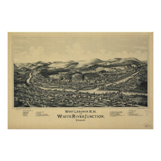 West Lebanon, NH & White River Junction, VT (1889) Poster