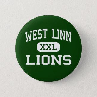 West Linn - Lions - High School - West Linn Oregon 6 Cm Round Badge
