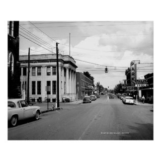 West Main Street McMinnville Tennessee Circi 1958 Poster