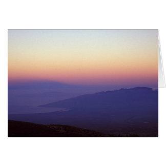 West Maui Mountains from Haleakala National Park Card