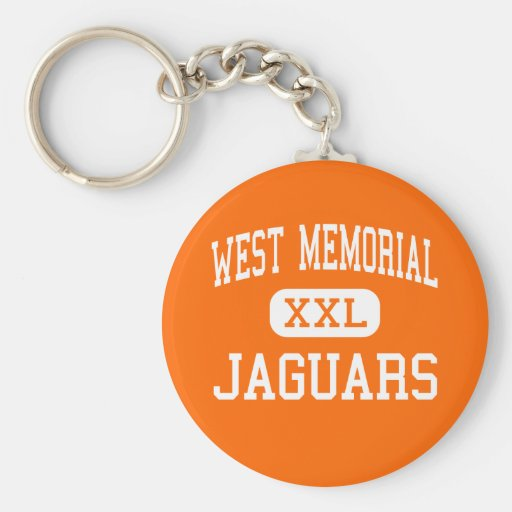 West Memorial - Jaguars - Junior - Katy Texas Keychain