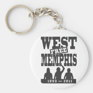 West Memphis Three Basic Round Button Key Ring