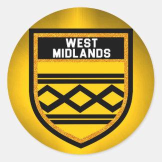 West Midlands Flag Round Sticker