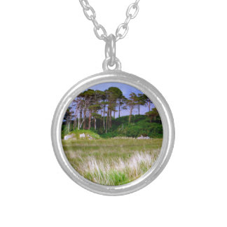 """West of Ireland Landscape"" Silver Plated Necklace"