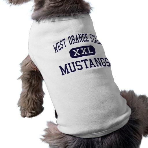West Orange Stark - Mustangs - High - Orange Texas Dog Clothing
