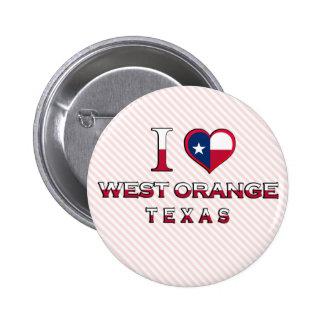 West Orange Texas Pinback Button