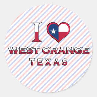 West Orange, Texas Round Sticker