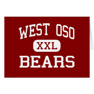 West Oso - Bears - Middle - Corpus Christi Texas Greeting Card