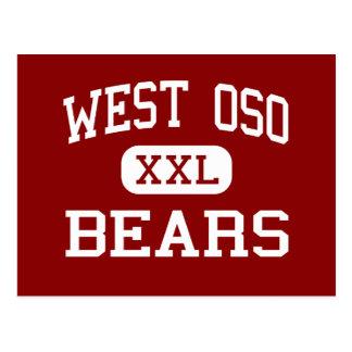 West Oso - Bears - Middle - Corpus Christi Texas Postcard