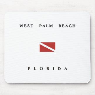 West Palm Beach Florida Scuba Dive Flag Mouse Pads