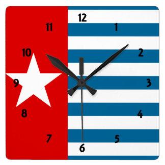 west papua wall clock