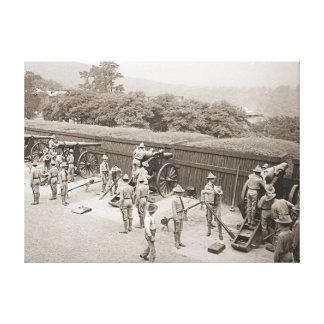 West Point Artillery Practice 1905 Canvas Print