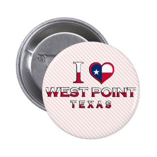 West Point Texas Pinback Button
