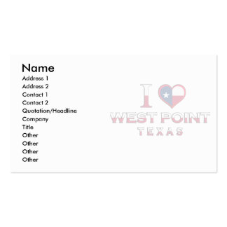 West Point, Texas Business Cards