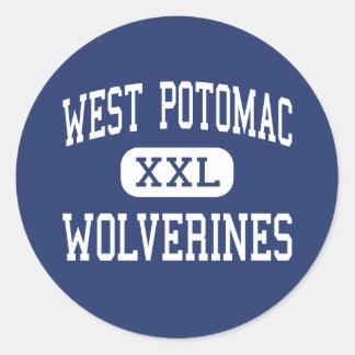 West Potomac - Wolverines - High - Alexandria Classic Round Sticker