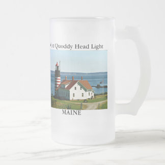 West Quoddy Head Light Maine Frosted Mug