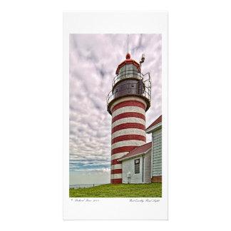 West Quoddy Head Light Photocard Custom Photo Card
