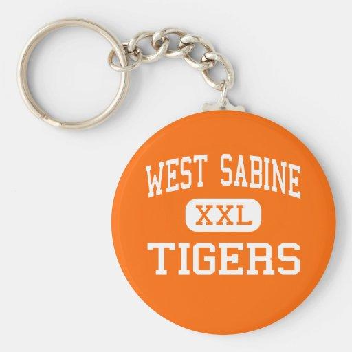 West Sabine - Tigers - High - Pineland Texas Keychains