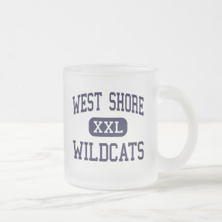 West Shore - Wildcats - Senior - Melbourne Florida 10 Oz Frosted Glass Coffee Mug