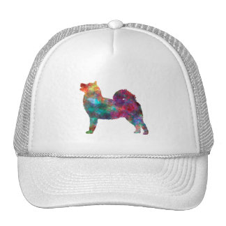 West Siberian Laika in watercolor Cap