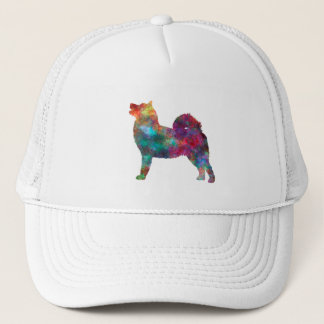West Siberian Laika in watercolor Trucker Hat