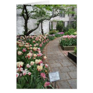 West Side Community Garden Tulip New York City NYC Card
