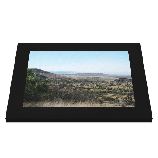West Texas Desert-Landscape Stretched Canvas Print